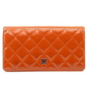 Auth Chanel Matrasse Cc Wallet Red #4591C10